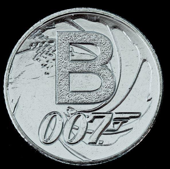Moeda 10 Pence Série Alfabeto Letra B de 2018 - James Bond