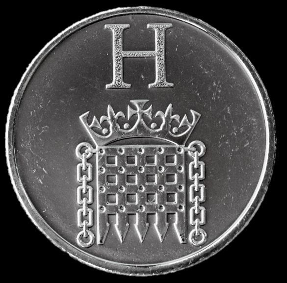 Moeda 10 Pence Série Alfabeto Letra H de 2018 - Houses of Parliament