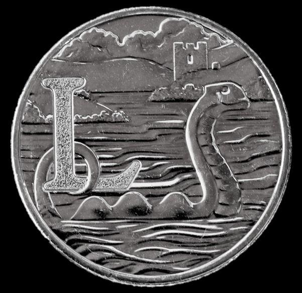Moeda 10 Pence Série Alfabeto Letra L de 2018 - Loch Ness Monster