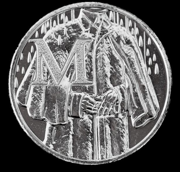 Moeda 10 Pence Série Alfabeto Letra M de 2018 - Mackintosh