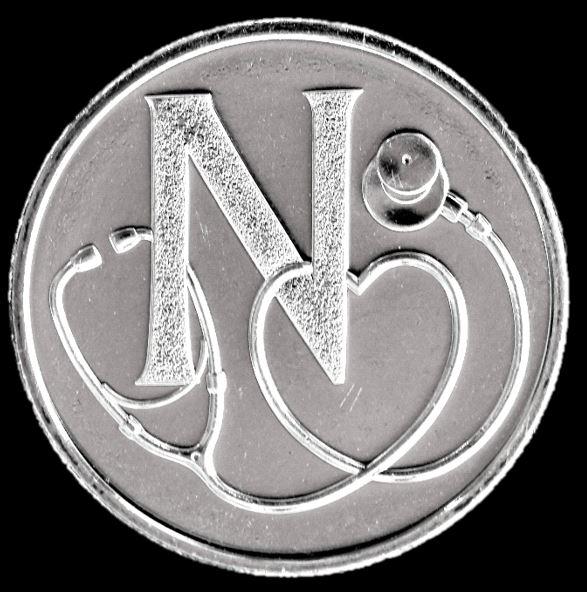 Moeda 10 Pence Série Alfabeto Letra N de 2018 - National Health Service