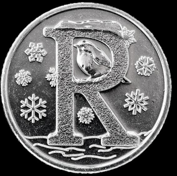 Moeda 10 Pence Série Alfabeto Letra R de 2018 - Robin