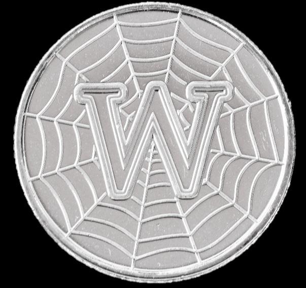 Moeda 10 Pence Série Alfabeto Letra W de 2018 - World Wide Web